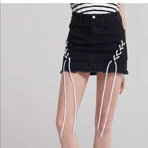 Storets Zoey Black Denim Skirt
